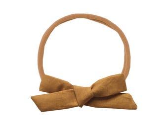 Schoolgirl Bow or Pigtail Set /// Mustard