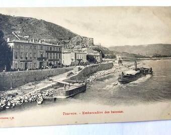 TOURNON - Embarcadere des Bateaux - Unused Vintage postcard