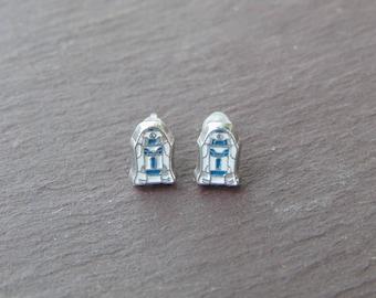 Cute Little Star Wars R2D2 Stud Earrings