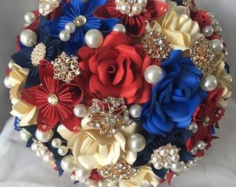 Origami Paper Bridal Bouquet