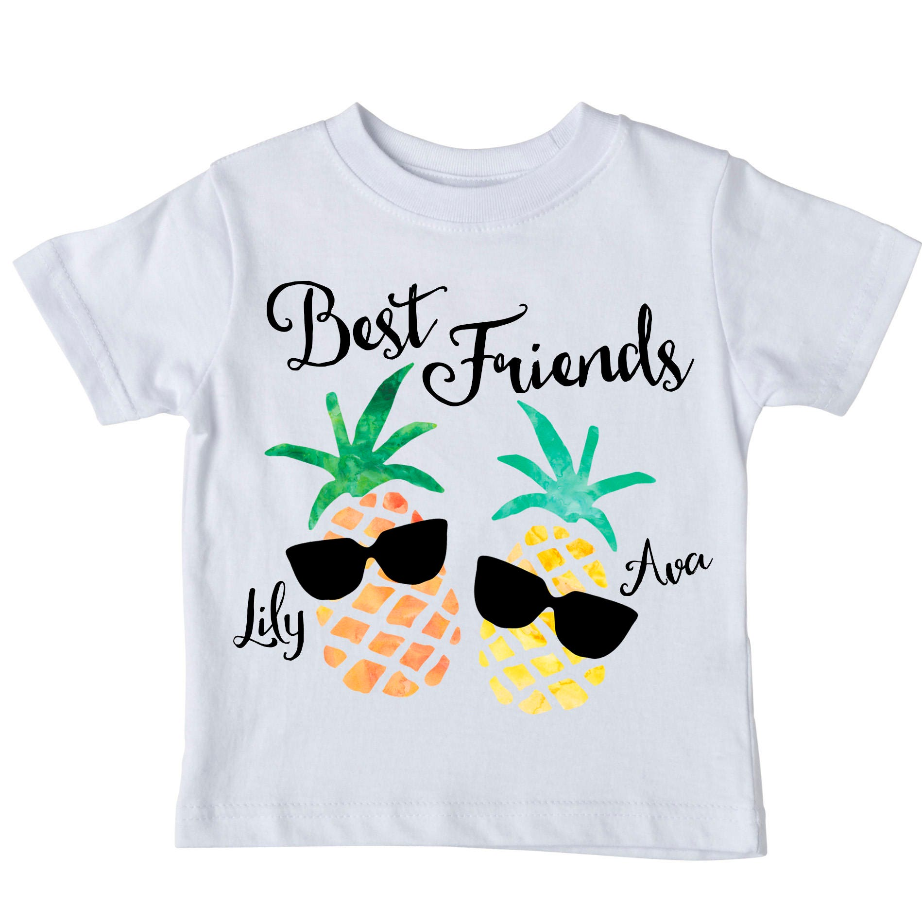 Best friends shirt set personalized shirt pineapple shirt for Custom personal trainer shirts