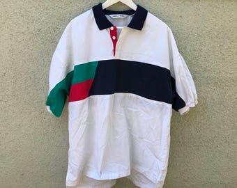 Original Pierre Cardin 1990's Multi Color Polo