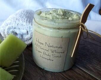 All Natural Honeydew Whipped Sugar Body Scrub