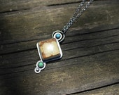 SEVEN DWARFS PENDANT - Turquoise Pendant - Brown Turquoise - Handmade - Sterling Silver - Gift For Her - Ready To Ship