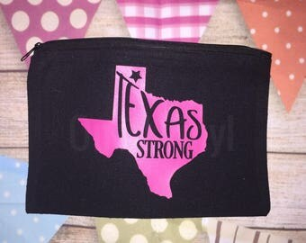 Texas Strong Make Up Bag