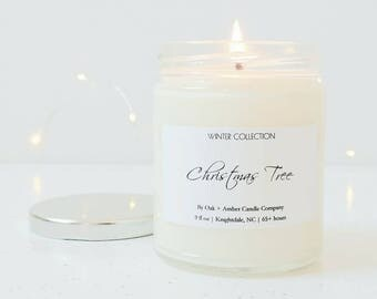 CHRISTMAS TREE | Holiday Soy Candle | Winter Collection | Christmas Candle | Winter Candle | Christmas Gift | Christmas Tree Candle