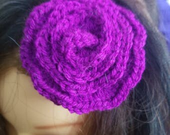 Purple flower hairclip