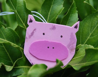 Muddy  pig luggage tag