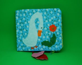Goose Soft Book, Fabric Baby Book, busy book, Montessori Toy, play book, sensory toy, travel toy, educational toy (from 6 months old ).