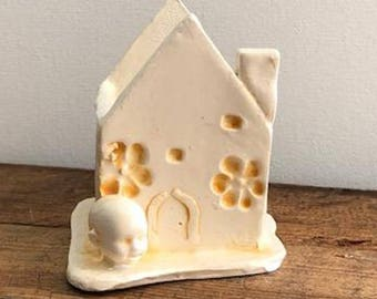 Ceramic Baby Head Mini House Planter