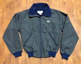 Vintage LL bean windbreaker 3 Season jacket 1990's Inside warm lining Size small unisex Grey shade outdoors jacket camping gear
