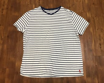 Polo Ralph Lauren V-neck Striped T-shirt XL Unisex Designer shirt Spring/Summer wear Guess stripes Tommy Hilfiger