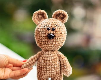 Teddy Bear, Crochet Bear, Stuffed Bear