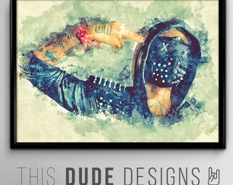 "SALE   Wrench Watchdogs 2 Dedsec Hacker Original Digital Poster *Enter ""DUDESAVE15""  on checkout for 15% off"