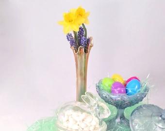 Fenton Marigold Carnival Glass Vase