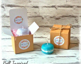 Macaron candle favours, wedding favours, candle favours, small favours, bridesmaid gifts, shower favours, thank you gift, macaron favours