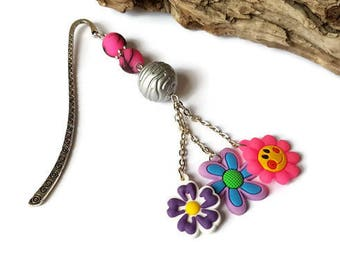 Smile and pop flower bookmarks