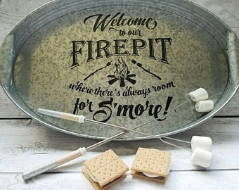 Firepit smores serving tray, smores serving tray, firepit serving tray, outdoor entertaining tray, bbq serving tray, housewarming gift