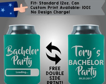 Bachelor Party Loading Name's Bachelor Party Collapsible Neoprene Bachelor Party Can Cooler Double Side Print (Bach81)