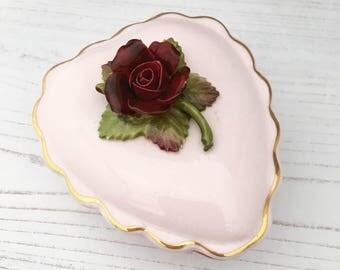 Pink Bone China Trinket Box - Denton