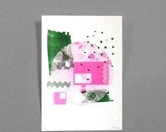 Hit the Road - Risograph Print