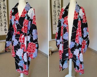 Yukata bathrobe / kimono style bathrobe / kimono bathrobe / yukata style bathrobes / yukata / cotton bathrobe
