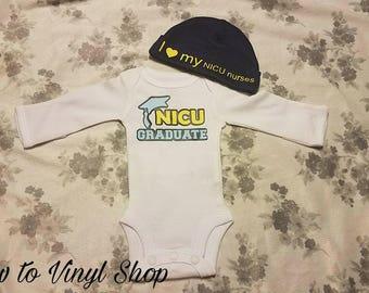 NICU Graduate Baby Boy Girl Preemie Onesie
