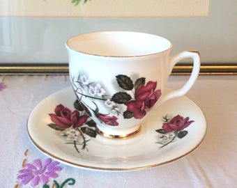 Pink Roses Royal Imperial Teacup & Saucer