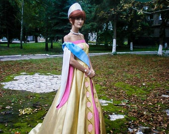 Anastasia Cosplay Golden Final dress Halloween costume Adult handmade cosplay costume Size XS In Stock READY to SHIP and Custom Order