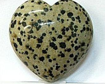 Heart in 40mm Dalmatian Stone