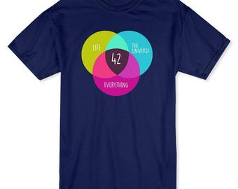 Circles & Colors Life, Universe, Everything Men's Black T-shirt