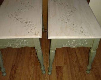 end tables night stands side tables antique refurbished shabby chic