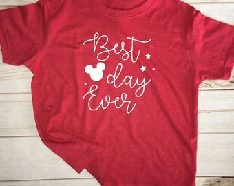 Best day ever Mickey Child shirt tee t-shirt disney Vacation