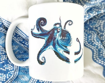 Octopus Siehorse Fine Art Mug, 11 oz.