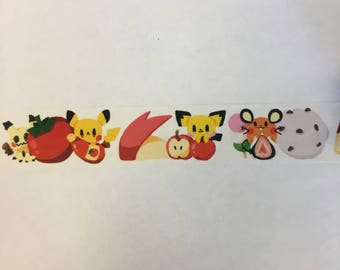 Pokemon dessert washi tape sample