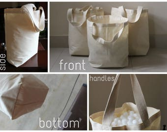 "5 x(15""x16""x5"") Natural Cotton Canvas tote bag"