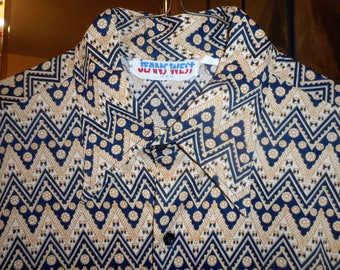 AWSOME Vintage Shirt  70's    by  JEANS WEST   Never Worn