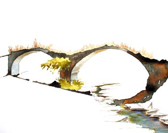 Ruderi del ponte medievale sul Sorcella (Mugello).