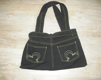 bag denim fully lined to bring to the gold embroidery and stitching ' shoulder