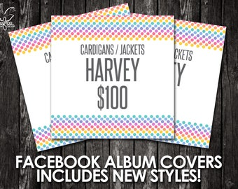 Facebook Album Covers - Includes Newest Styles and Pricing! - Instant Download! - Facebook Graphics