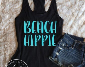 Beach Hippie • Summer Tank • Ladies Tank