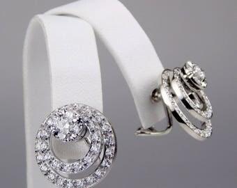14k white gold 2.5Ctw diamond earrings #10209