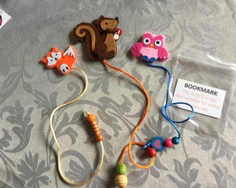 Animal Felt Bookmarks 3 in a pack