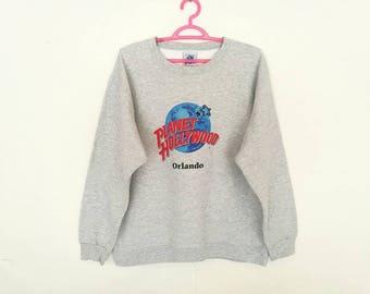 Rare!! Vintage Planet Hollywood Orlando Pullover Jumpa Sweatshirt