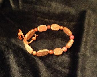 Rust Goldstone Bracelet