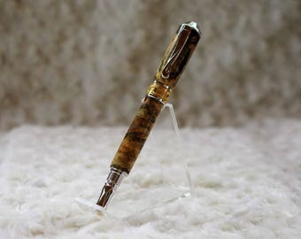 Gold Swirl Pen. Handmade Pen. Ball Point Pen.