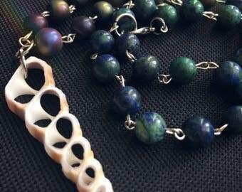 Unicorn Horn Seashell Beaded Necklace