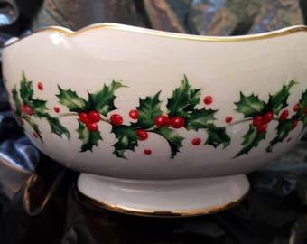 Lenox christmas bowl   Etsy