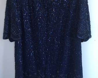 Vintage 80's Brilliante Sequin Shirt