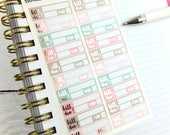 Bill Stickers, Functional Planner Stickers, Beautiful Planning, Rose Gold Foil, 1 Sheet of 20 stickers